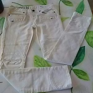 Hurley motorcycle jeans white